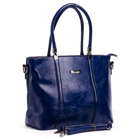 Женская сумка c прострочкой (синий)