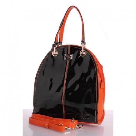 Женская сумка-трапеция Velina Fabbiano (оранжевая)
