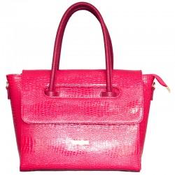 Лаковая сумка Betty Pretty (фуксия)
