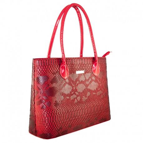 Прямая женская сумка (красный)