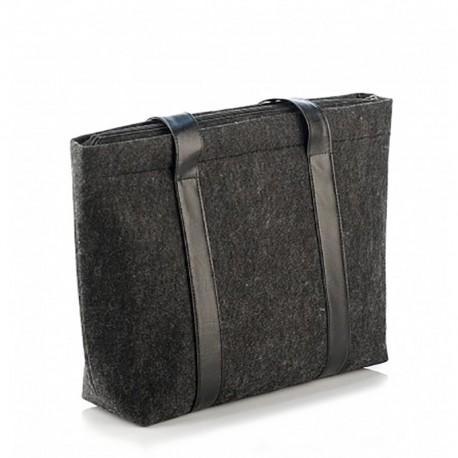 Сумка-шоппер из войлока черная