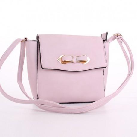 Элегантный клатч с бантиком (розовый)