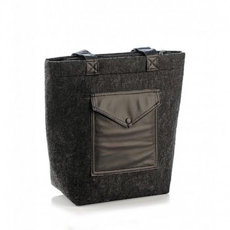 Стильная сумка из войлока (черная)