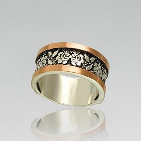 Серебряное кольцо Маричка с чернением