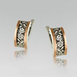 Серебряные серьги Маричка с чернением