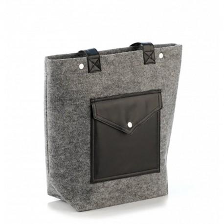 Стильная сумка из войлока (серая)