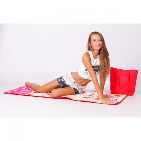 Пляжная сумка-коврик, 165х75 см (красная)