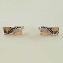 Серебряные серьги Сальвия (розовый)
