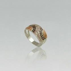 Серебряное кольцо Сальвия (розовый)