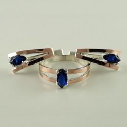 Серебряный гарнитур Милолика (кольцо и серьги)