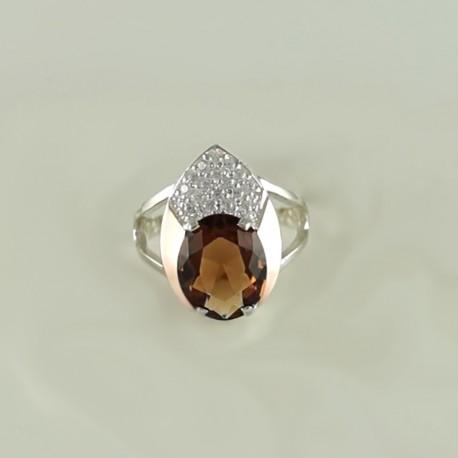 Кольцо серебряное ТАЛА с крупным камнем