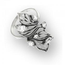 Серебряное колечко ОЧАРОВАНИЕ (белый)