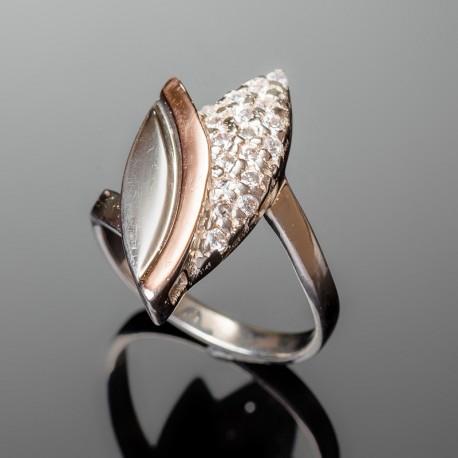 Серебряное кольцо Бутон