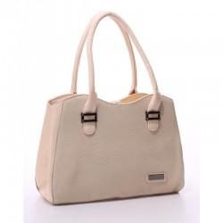 Недорогая женская сумка (бежевый)