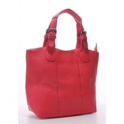 Городская женская сумка-шоппер (красный)