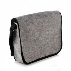 Большая войлочная сумка-почтальонка на ремне