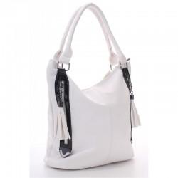 Высокая сумка шоппер (белый)