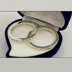 Серебряные серьги-кольца Триана