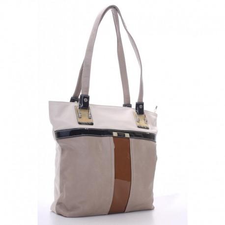Прямая женская сумка Vensi (Венси), беж