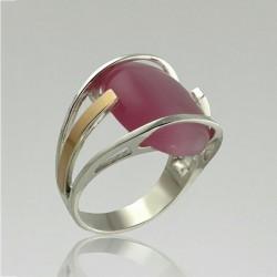 Кольцо Миледи из серебра с кабошоном
