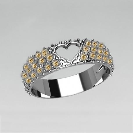 Серебряное кольцо Восхищение