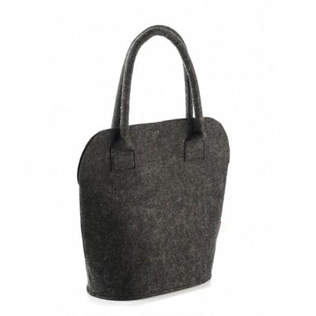 Оригинальная войлочная сумка на каждый день, на кнопке (черная)