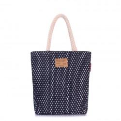 Пляжная сумка LAS PALMAS с принтом ЯКОРЕК, синяя