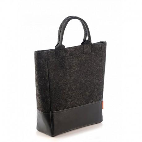 Комбинированная сумка (черная)