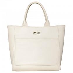 Женская сумка с карманом (молочный)