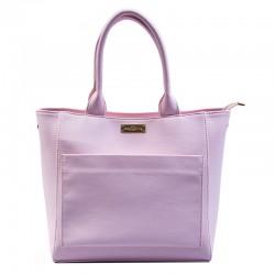 Женская сумка с карманом (розовый)