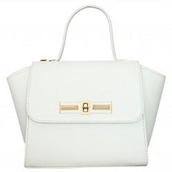 Матовая сумка- портфель (белая)