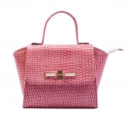 Женская сумка- портфель (розовый)