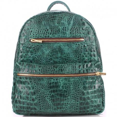 Стильный рюкзак MINI BACKPACK LEATHER CROCO POOLPARTY (зеленый)
