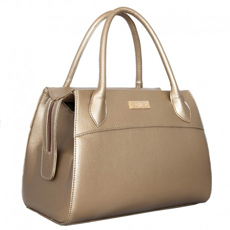 Золотистая женская сумка