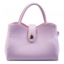 Женская сумка с фигурным верхом (розовый)