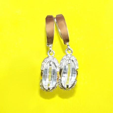 Серьги Орнела из серебра с золотом (белый)
