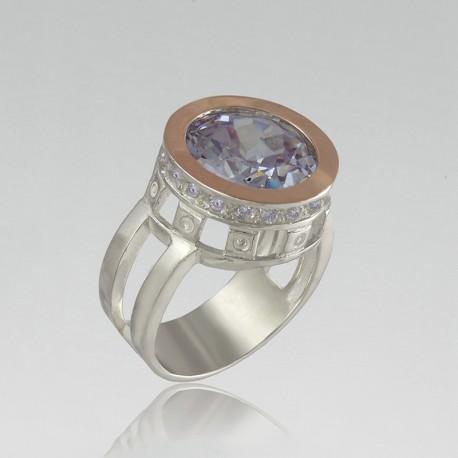 Высокий перстень Королева (лаванда)