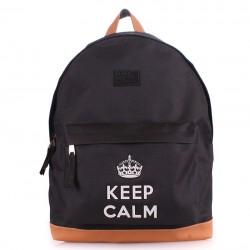 "Рюкзак с модной надписью ""KEEP CALM"", BACKPACK BLACK"