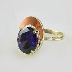 Радмира - серебряное кольцо (фиолетовый)