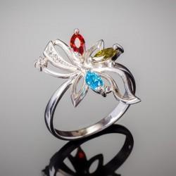 Кольцо из серебра Азалия