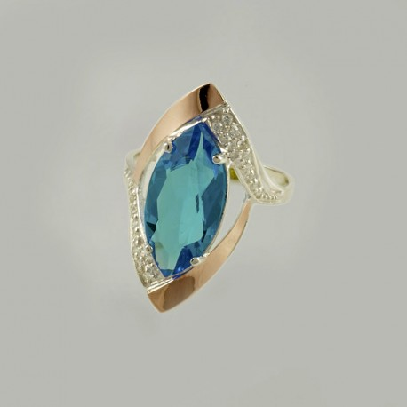 Ясмин - серебряное кольцо с цирконием