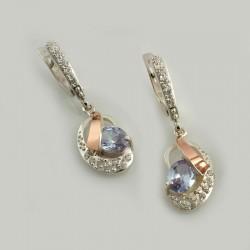 Серебряные серьги МАРГАРИТА (лаванда)