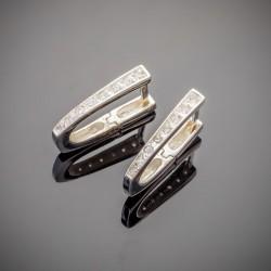 Серебряные серьги Феникс