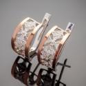 Сережки Афродита - серебро 925 пробы с напайками золота