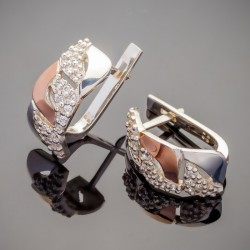 Серебряные серьги Юлия с плетением