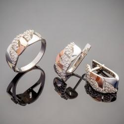 Набор серебряных украшений Юлия с плетением цепь