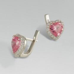 Серьги Сердце (розовый)
