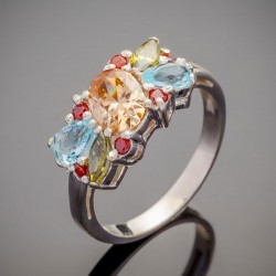 Кольцо из серебра ЛЕТО