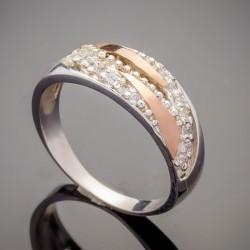 Серебряное кольцо Мелиса с золотом