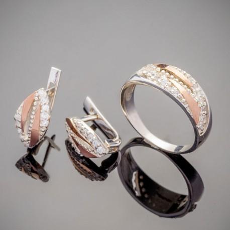Набор серебряных украшений Мелиса
